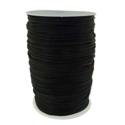 Beadsmith Knot It Black 3mm Satin Braiding Cord 144yd Bulk Spool