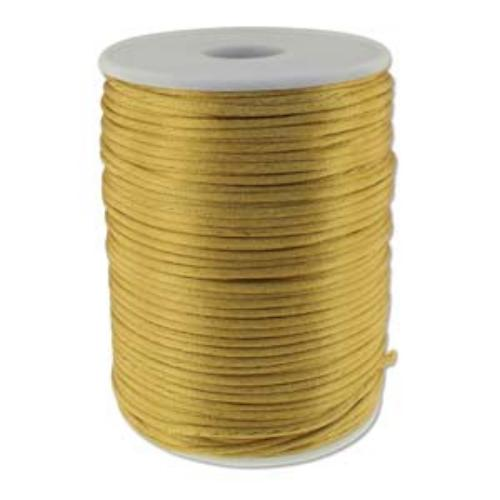 Beadsmith Knot It Camel 2mm Satin Braiding Cord 144yd Bulk Spool