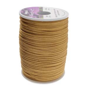 Beadsmith Knot It Coffee 2mm Satin Braiding Cord 144yd Bulk Spool