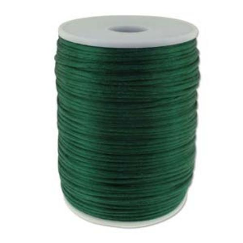 Beadsmith Knot It Dark Green 2mm Satin Braiding Cord 144yd Bulk Spool