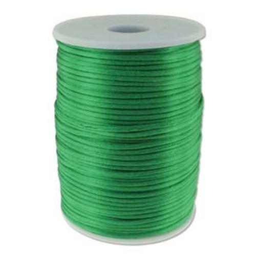Beadsmith Knot It Rattail Emerald 2mm Satin Braiding Cord 144yd Bulk Spool