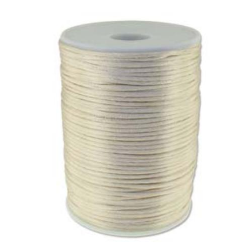 Beadsmith Knot It Ivory 2mm Satin Braiding Cord 144yd Bulk Spool (PRE-ORDER)