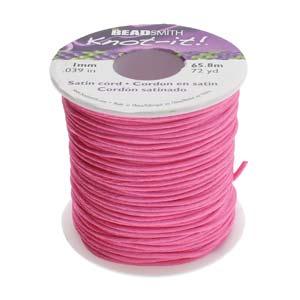Beadsmith Knot It Light Pink 1mm Satin Braiding Cord 72yd Bulk Spool