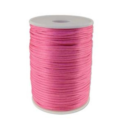 Beadsmith Knot It Light Pink 2mm Satin Braiding Cord 144yd Bulk Spool