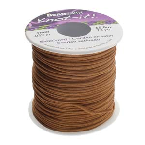 Beadsmith Knot-it! Rattail 1mm Luggage (Kumihimo) Satin Braiding Cord 1 metre