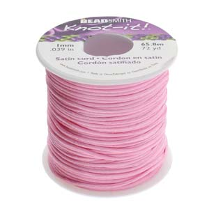 Beadsmith Knot It Mauve 1mm Satin Braiding Cord 72yd Bulk Spool