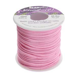 Beadsmith Knot It Mauve 1mm Satin Braiding Cord 72yd Bulk Spool