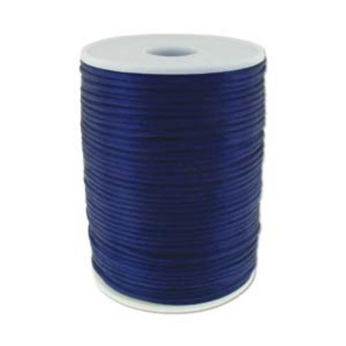 Beadsmith Knot It Navy 2mm Satin Braiding Cord 144yd Bulk Spool