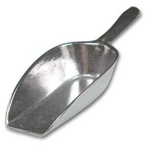Metal Bead Scoop - med - 11x4x2cm