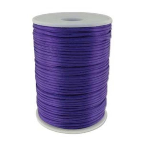 Beadsmith Knot It Purple 2mm Satin Braiding Cord 144yd Bulk Spool