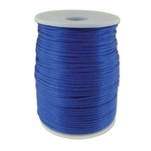 Beadsmith Knot It Royal Blue 2mm Satin Braiding Cord 144yd Bulk Spool