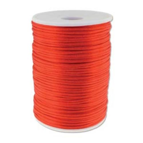 Beadsmith Knot It Rattail Red 2mm Satin Braiding Cord 144yd Bulk Spool