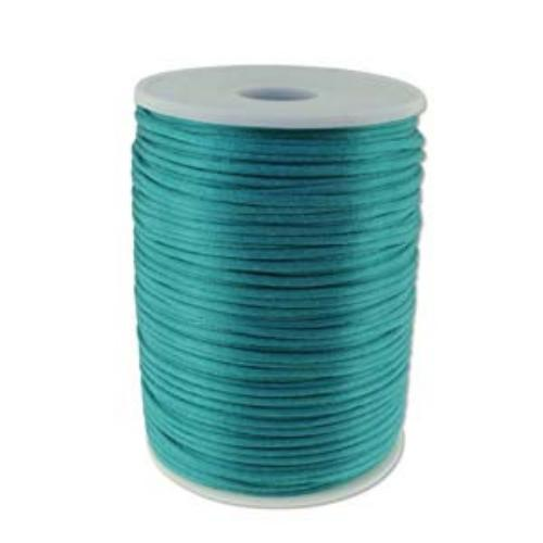 Beadsmith Knot It Turquoise 2mm Satin Braiding Cord 144yd Bulk Spool