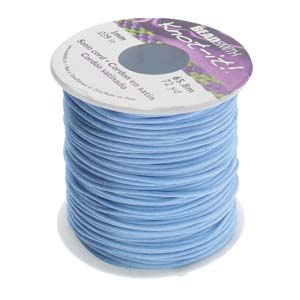 Beadsmith Knot-it! Rattail 1mm Williamsburg Blue (Kumihimo) Satin Braiding Cord 1 metre