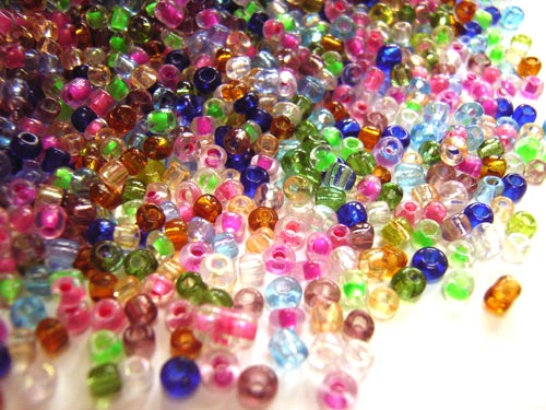 Glass Seed Beads 11/0 - 2mm Woodland Flowers Mix 50g