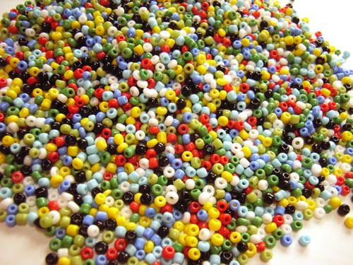 Glass Seed Beads 11/0 - 2mm Summer Meadow Mix 50g
