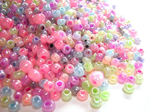Glass Seed Beads 8/0 - 3mm Fairy Princess Mix 50g
