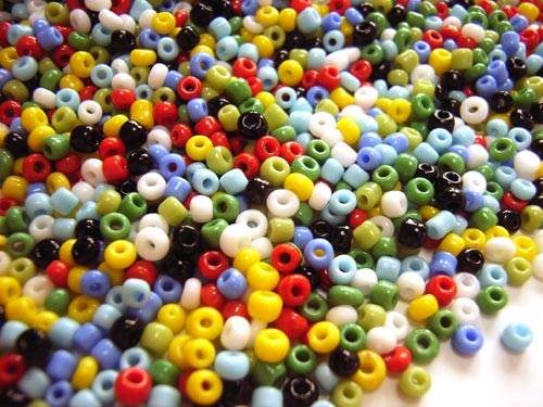 Glass Seed Beads 6/0 - 4mm Summer Meadow 50g