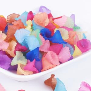 Lucite Flowers 13.2x11.5x10.5mm Orchid Frosted Bead 11g Soup Mix