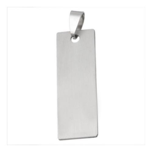 Stainless Steel Rectangle Tag 40x13.5mm 18g Stamping Blank with Bail x1