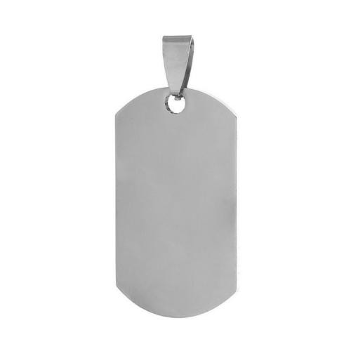 Stainless Steel Rectangle Dog Tag 44x20mm 18g Stamping Blank with Bail x1