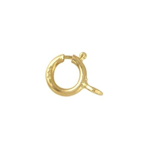 14kt Gold (Solid) 5mm Spring Ring Clasp x1