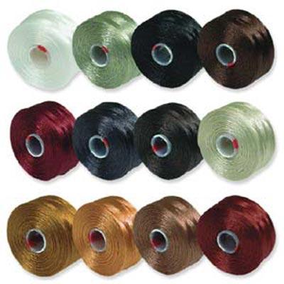 S-Lon, Super Lon Size D Thread Mix 1 browns/neutrals