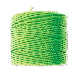 S-Lon, Super Lon Heavy Macrame Cord Tex400 Neon Green