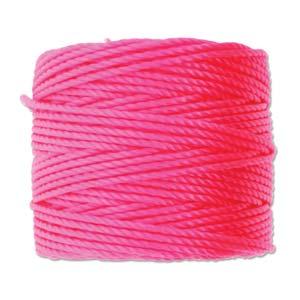 S-Lon, Super Lon Heavy Macrame Cord Tex400 Neon Pink
