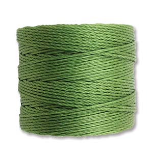 S-Lon, Superlon Tex 210, 0.5mm Bead Cord Avocado (Moss)
