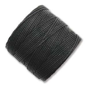 S-Lon, Superlon Tex 210, 0.5mm Bead Cord Black