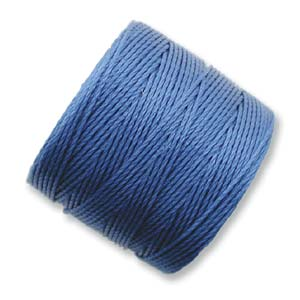 S-Lon, Superlon Tex 210, 0.5mm Bead Cord Blue