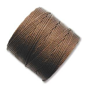 S-Lon, Super Lon Bead Cord Tex210 Brown