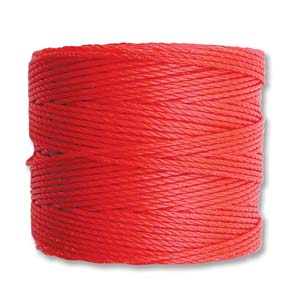 S-Lon, Superlon Tex 210, 0.5mm Bead Cord Bright Coral