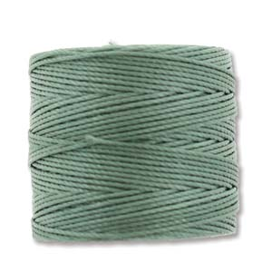 S-Lon, Superlon Tex 210, 0.5mm Bead Cord Celadon Celery Green