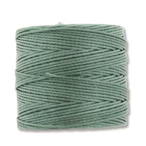 S-Lon, Superlon Tex 210, 0.5mm Bead Cord Celadon Celery Green