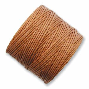 S-Lon, Superlon Tex 210, 0.5mm Bead Cord Copper (Nutmeg)