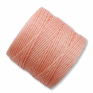 S-Lon, Superlon Tex 210, 0.5mm Bead Cord Coral Pink