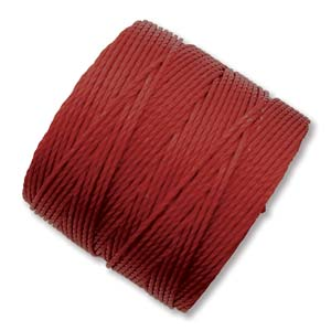 S-Lon, Superlon Tex 210, 0.5mm Bead Cord Dark Red