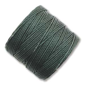 S-Lon, Superlon Tex 210, 0.5mm Bead Cord Evergreen