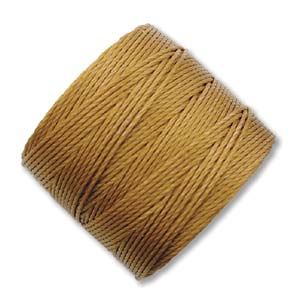 S-Lon, Superlon Tex 210, 0.5mm Bead Cord Gold