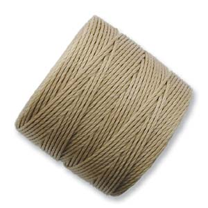S-Lon, Superlon Tex 210, 0.5mm Bead Cord Light Brown