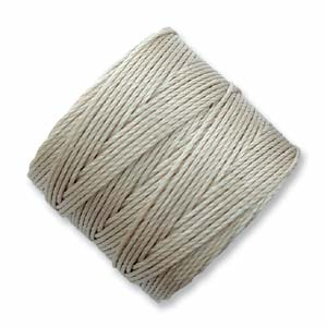 S-Lon, Superlon Tex 210, 0.5mm Bead Cord Light Grey Oyster