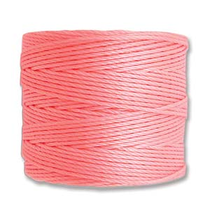 S-Lon, Superlon Tex 210, 0.5mm Bead Cord Light Pink