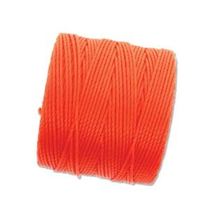 S-Lon, Superlon Tex 210, 0.5mm Bead Cord Neon Orange