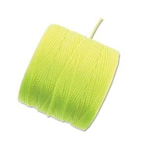 S-Lon, Superlon Tex 210, 0.5mm Bead Cord Neon Yellow