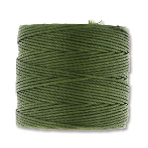 S-Lon, Superlon Tex 210, 0.5mm Bead Cord Olivine