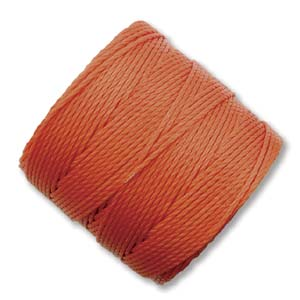 S-Lon, Super Lon Bead Cord Tex210 Orange