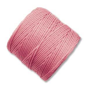 S-Lon, Superlon Tex 210, 0.5mm Bead Cord Pink