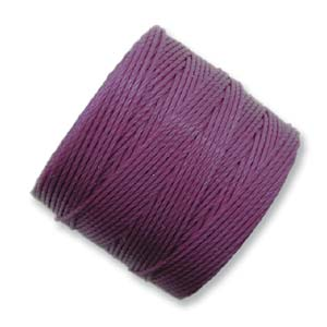 S-Lon, Superlon Tex 210, 0.5mm Bead Cord Plum